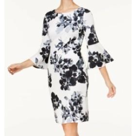 Jessica Howard ジェシカハワード ファッション ドレス Jessica Howard NEW White Womens Size 12P Petite Floral Sheath Dress