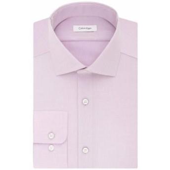 Calvin Klein カルバンクライン ファッション ドレス Calvin Klein Mens Purple Size 18 Performance Button Up Dress Shirt