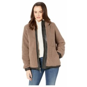 Vince Camuto ヴィンスカムート 服 一般 Hooded Faux Shearling Jacket R8971