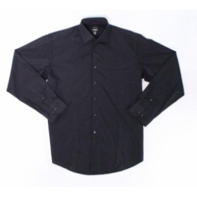 Alfani  ファッション ドレス Alfani NEW Black Mens Size Medium M 15-15 1/2 Regular Fit Dress Shirt