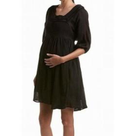 Everly Grey エバーリーグレイ ファッション ドレス Everly Grey Womens Black Size XS Maternity Lace Trim Shift Dress