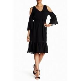 Trina Turk トリーナ ターク ファッション ドレス Trina Turk NEW Black Womens Size 2 Cold-Shoulder Belted Shift Dress