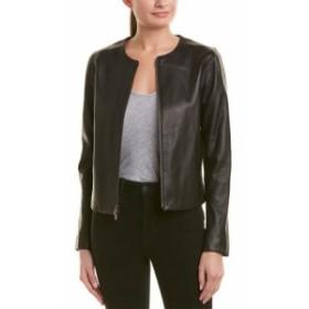 Vince ヴィンス ファッション フォーマル Vince Silk-Lined Leather Jacket S Black
