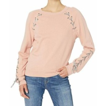 Jessica Simpson ジェシカシンプソン ファッション トップス Jessica Simpson Womens Pink Size Large L Lace Up Pullover Sweater