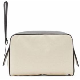 ボッテガ ヴェネタ Bottega Veneta メンズ ポーチ off-white medium canvas travel pouch