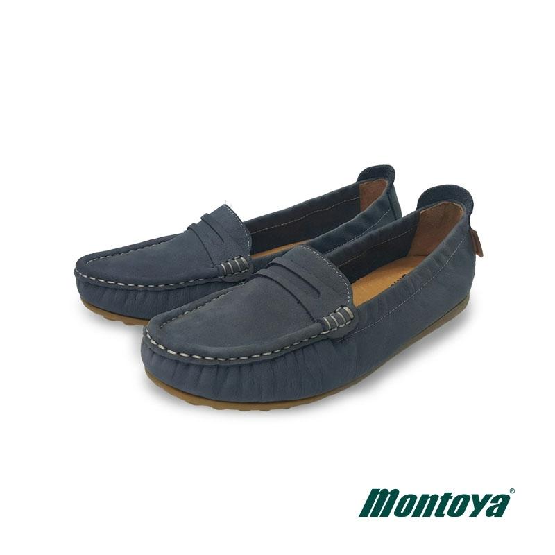 montoya 女款 藏青藍  磨砂皮後鬆緊莫卡辛鞋-L8265604