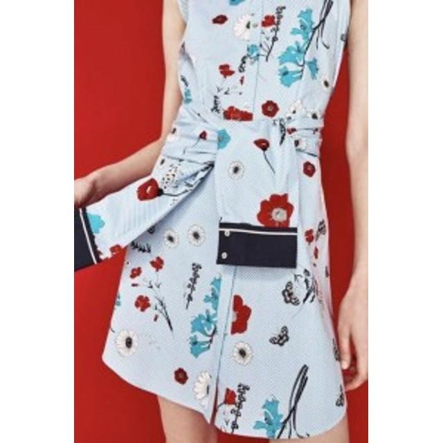 ファッション ドレス NWT ZARA 2017 STRIPES AND FLORAL PRINT SLEEVELESS COTTON DRESS TUNIC 2276/132_M