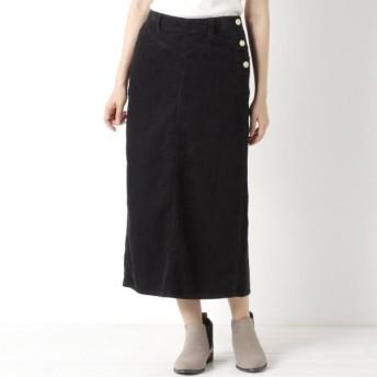 スカート レディース ロング 大人の女性のためのコーデュロイタイトスカート 「ネイビー」