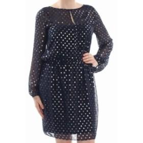 American  ファッション ドレス American Living Womens Dress Blue Size 2 Sheath Polkadot Print Chiffon
