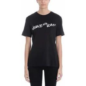 Versace レディースその他 Versace With Love Black Cotton T-shirt black