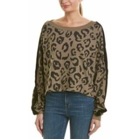 ファッション トップス Chrldr Boatneck Leopard Sweater