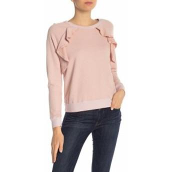Splendid スプレンディッド ファッション トップス Splendid Womens Pink Size Medium M Ruffle Long Sleeve Sweatshirt