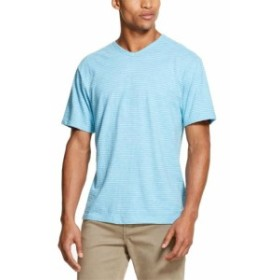 DKNY ダナキャランニューヨーク ファッション トップス DKNY NEW Blue White Mens Size XL Striped Pullover V Neck Tee T-Shirt