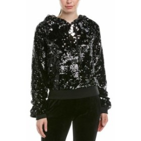 Pam & Gela パム & ゲラ ファッション トップス Pam & Gela Sequin Velour Hollywood Hoodie S
