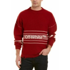 Red  ファッション トップス Off White Dolman Wool Sweater Xs Red