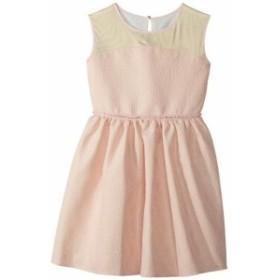 Us Angels ユーエスエンジェルズ ドレス 一般 Brocade and Mesh Illusion Neckline Dress (Big Kids)