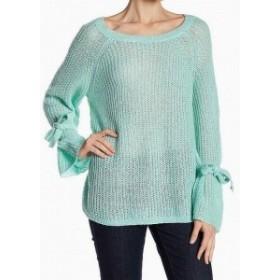 ファッション トップス NAADAM Womens Sweater Green Size Large L Knitted Tie-Sleeve Open Knit