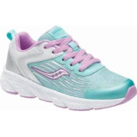 Saucony キッズスニーカー Saucony Wind Running Shoe Turquoise/Silver Lea