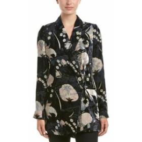 Blazer ブレザー ファッション 衣類 Haute Hippie Bond Silk-Blend Blazer 0 Black