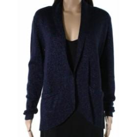 ファッション 衣類 Belldini NEW Blue Womens Size Large PL Petite Glitter Open Jacket