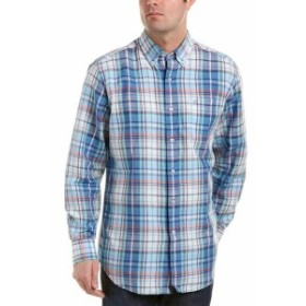 Southern Tide サウザーンタイド ファッション ドレスシューズ Southern Tide Lookout Linen-Blend Classic Fit Woven Shirt M Blue