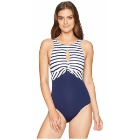 Tommy Bahama トミーバハマ 水着 一般 Channel Surf Twist Front High Neck One-Piece