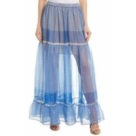 Stella McCartney ステラマッカートニー ファッション スカート Stella Mccartney Metallic Silk-Blend Skirt 40 Blue