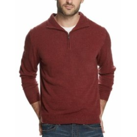 Weatherproof ウォータープルーフ ファッション トップス Weatherproof NEW Cabernet Red Mens Size 2XL Pullover 1/2 Zip Sweater