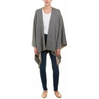 Rabbit  ファッション トップス Roller Rabbit Wool & Cashmere-Blend Cape O/S Grey