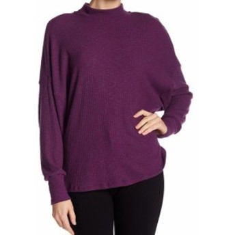 ファッション トップス Harlowe & Graham NEW Purple Mock Neck Women Large L Dolman Sweater