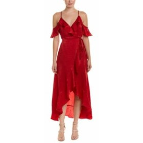 Red  ファッション ドレス Flying Tomato Ruffle Wrap Dress S Red
