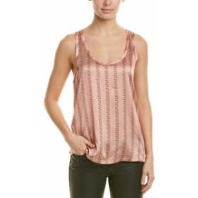 ファッション 衣類 Reiss Remy Silk-Blend Tank L Pink
