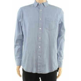 Pocket  ファッション アウター Club Room Blue Mens Size XL Light Chambray Pocket Button Down Shirt