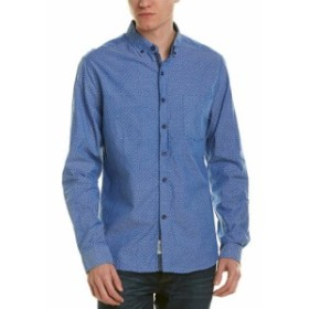 Heritage  ファッション ドレスシューズ Heritage By Report Mens Heritage Woven Shirt S Blue