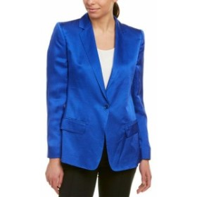 Blazer ブレザー ファッション 衣類 Max Mara Silk Blazer 6 Blue
