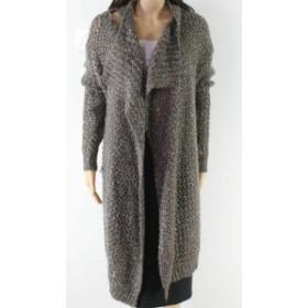 ファッション トップス Solutions Womens Gray Size Small S Cable Knit Open Front Cardigan