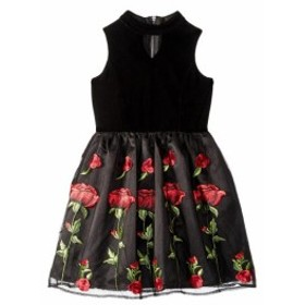 Us Angels ユーエスエンジェルズ ドレス 一般 Sleeveless Stretch Velvet Dress with Embriodered Lace Skirt (Big Kids)