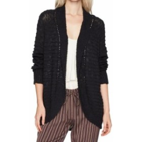 Roxy ロキシー ファッション トップス Roxy Black Womens Size Medium M Open Front Knit Cardigan Sweater