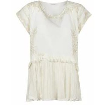 Mes Demoiselles レディースその他 Mes Demoiselles Floral Embroidered Top Basic
