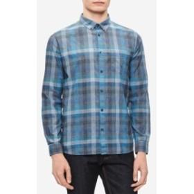 Calvin Klein カルバンクライン ファッション アウター Calvin Klein NEW Blue Teal Mens Size XL Block Plaid Button Down Shirt