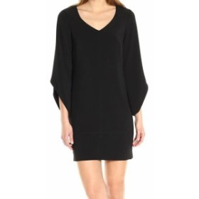 Laundry by Shelli Segal ランドリーバイシェルシーガル ファッション ドレス Laundry by Shelli Segal NEW Black Tulip Sleeve V-Neck 8