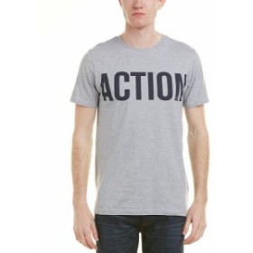 Action  ファッション トップス Knowledge Cotton Apparel Mens Knowledgecotton Action T-Shirt S Grey