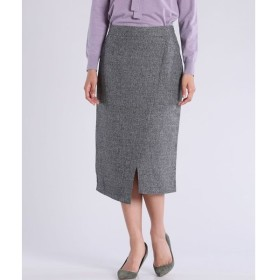 CLEAR IMPRESSION / ツイードタックスリットスカート