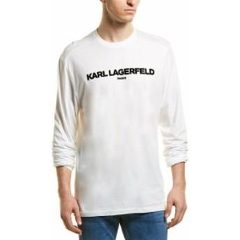 KARL LAGERFELD カールラガーフェルド ファッション トップス Karl Lagerfeld Flocked Logo Long Sleeve Shirt