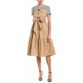 ファッション ドレス English Factory Combo A-Line Dress Xs Brown