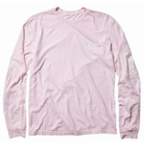 Quiksilver クイックシルバー ファッション トップス Quiksilver NEW Pink Mens Size Large L Oside Vides Long Sleeve Graphic Tee #049