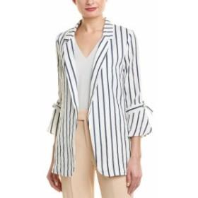 ファッション フォーマル City Sleek Striped Linen-Blend Jacket