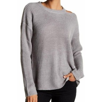 HEATHER  ファッション トップス RDI NEW Gray Heather Womens Size Large L Ripped Waffle Knit Sweater
