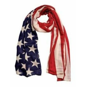 American  ファッション 帽子 San Diego Hat Company Womens  Woven American Flag Scarf BSS1701 Red Size One