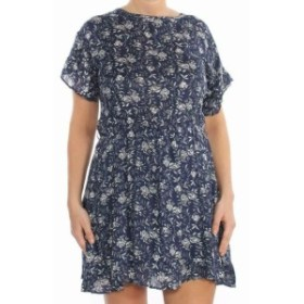 William Rast ウィリアムラスト ファッション ドレス William Rast NEW Blue Womens Size XL Floral Flutter Sleeve Shift Dress